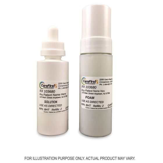 Minoxidil / Progesterone / Spironolactone Topical Foam / Solution Compounded