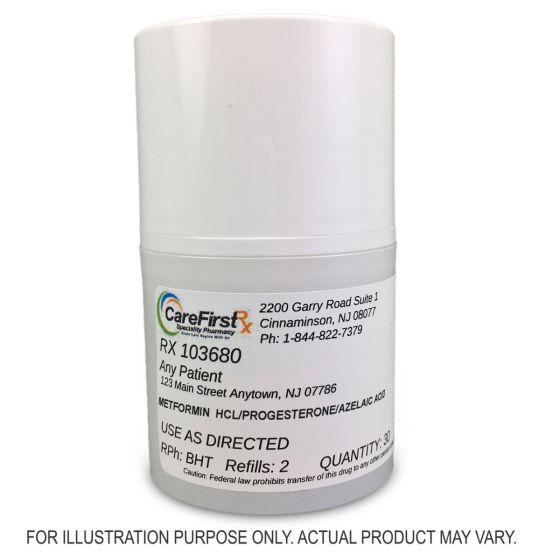 Metformin HCL/Progesterone/Azelaic Acid Cream Compounded